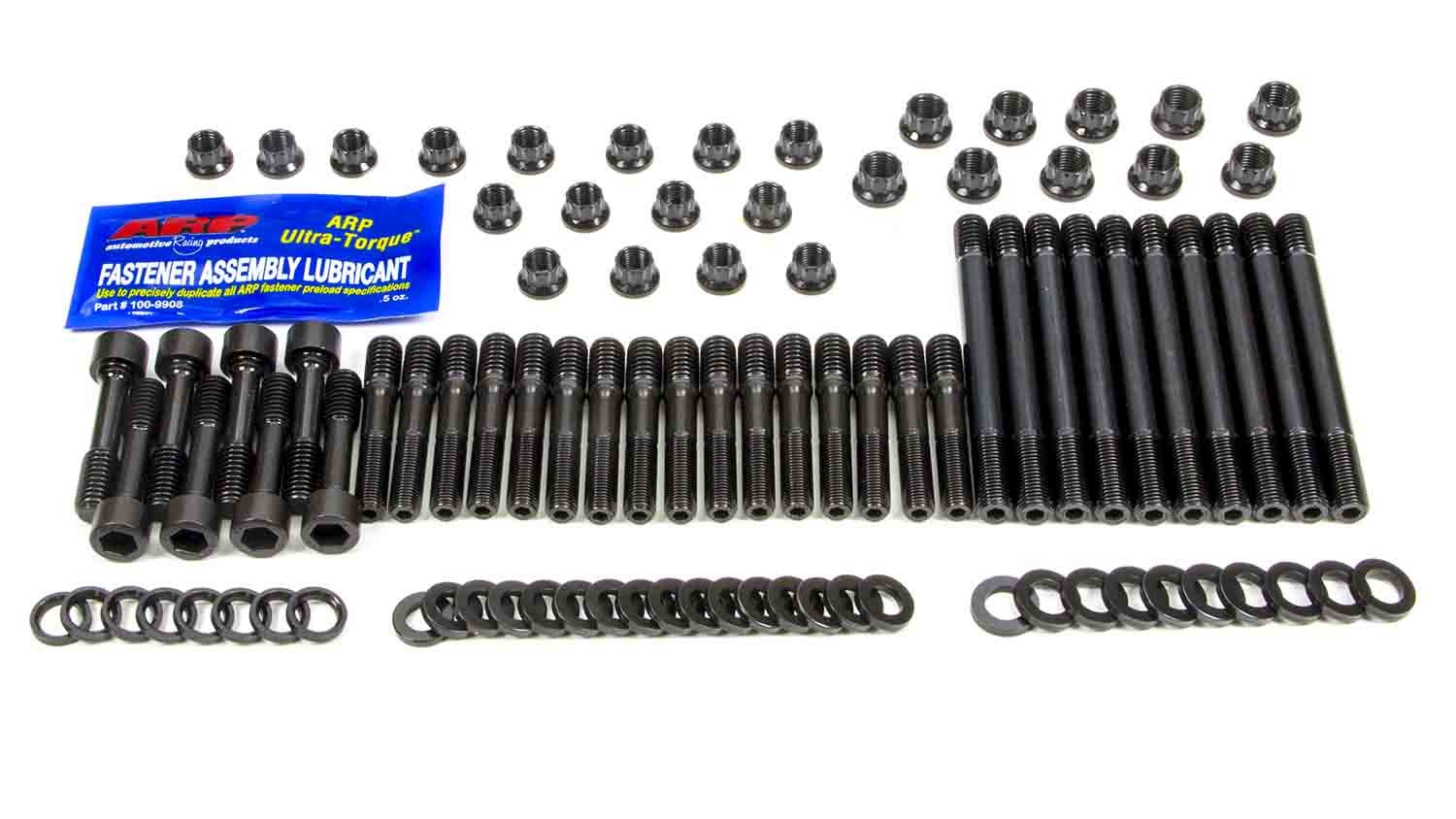 ARP 234-4722 Pro Series Black Oxide 12-Point Cylinder Head Stud Kit for Small Block Chevy with Under Cut SB2 Head