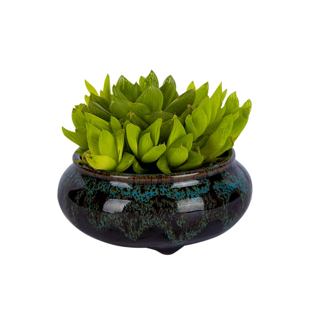3 Inches Small Handmade Ceramic Succulent Pot with Drainage Hole – Wedding Gift Home Decor Tabletop Decor