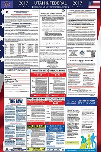 2017 Utah and Federal Labor Law Poster Laminated