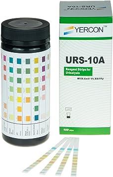 Orina Infección TEST 10 Parámetros Orina SUMERGIBLE TEST (100 Tiras Reactivas Por Paquete)