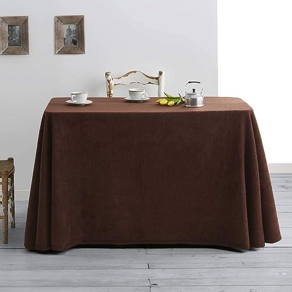 Lanovenanube - Falda Mesa Camilla Invierno Rectangular 90x140 - Marron
