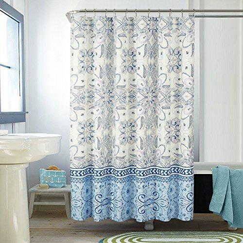 Pop Shop Skyler Medallion Shower Curtain, 72x72, Blue (Shower Shop Curtain)