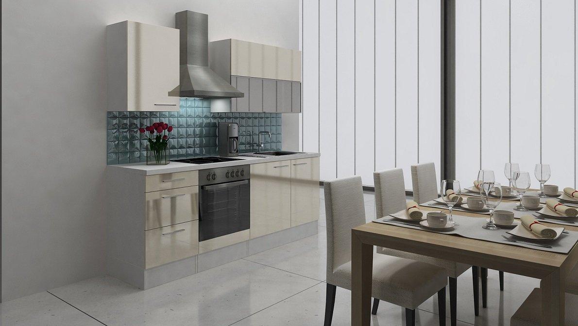 Außergewöhnlich Küche 220 Cm Sammlung Von Respekta Premium Einbau Küche Küchenzeile 220cm Weiß