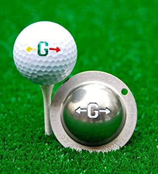Tin Cup Unisex S Alpha Players Cup G Golf Ball Marker Steel