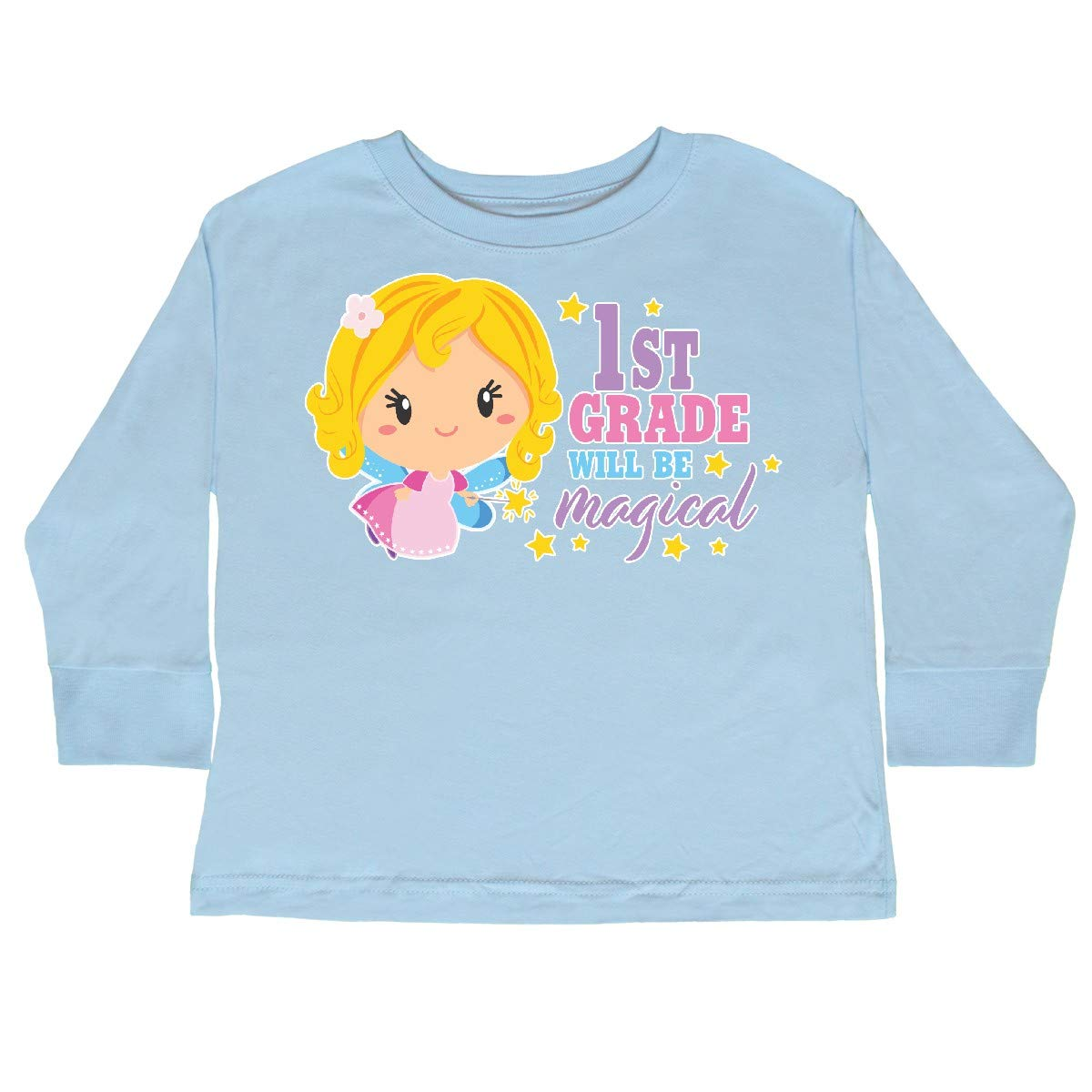 inktastic 1st Grade Will Be Magical with Blonde Toddler Long Sleeve T-Shirt