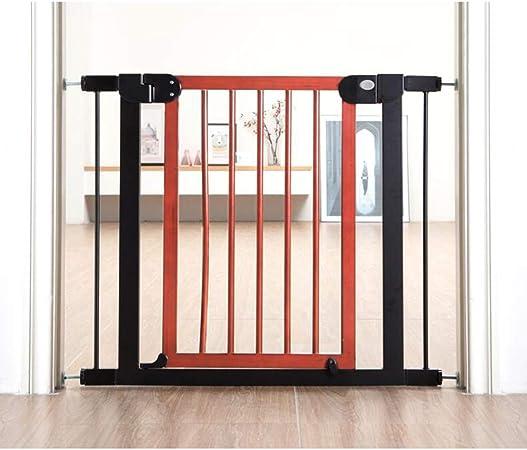 KSWD Madera Barrera de Seguridad para niños 76-83cm, Niños Mascotas Bebé Puerta de la Escalera para Puertas Escaleras, Sin taladrar Extensible,Red: Amazon.es: Hogar