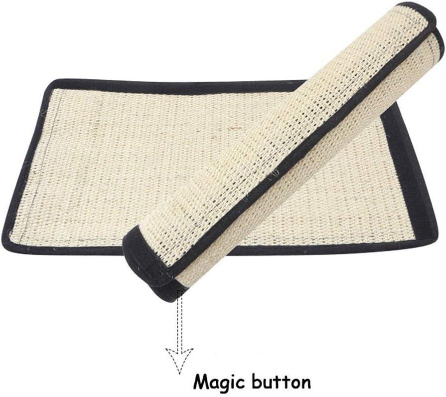 Fuluera Pet Scratch Sisal Mat Home Sofa Table Furniture Protector Scratch Guard Pad Pet Supplies Small