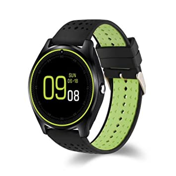 DROMATEC Lighting Montre connectée Sport smartwatch Compatible Android iOS Bluetooth Notifications Applications Fitness Calories perdues Distance