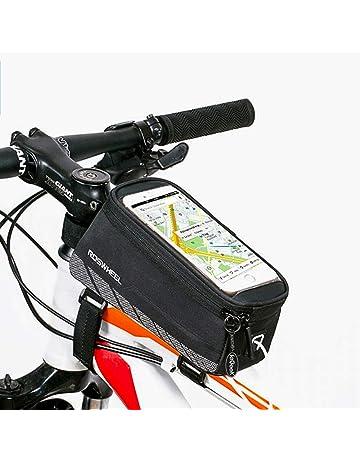 5f3f291390 Roswheel ieGeek Frame Bag lenkertasche Sacoche de vélo avec téléphones de  Place pour iPhone 6 Plus
