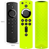 Covers for All-New Alexa Voice Remote for Fire TV Stick 4K, Fire TV Stick (2nd Gen), Fire TV (3rd Gen) Shockproof Protective Silicone Case - Chartreuse