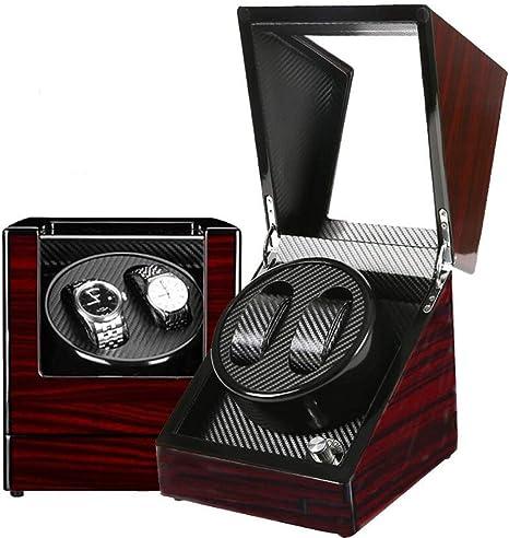 N/B 2020 Winder, mira la Caja de Reloj con Pintura de Piano, Todos los Relojes automáticos Relojes adecuados Caja de Almacenamiento de Pantalla Caja giratoria eléctrica, Caja de Reloj roja: Amazon.es: Deportes