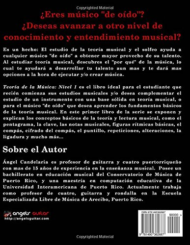 Teoria de la Musica: Nivel 1: Volume 1: Amazon.es: Angel Candelaria: Libros