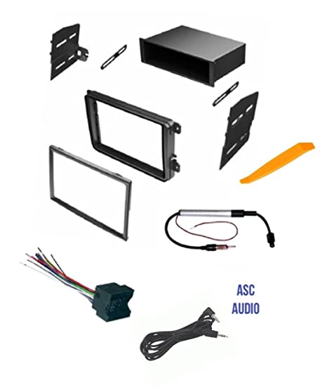 amazon com asc car stereo radio dash kit wire harness and antenna rh amazon com vw caddy radio wiring harness vw beetle radio wiring harness