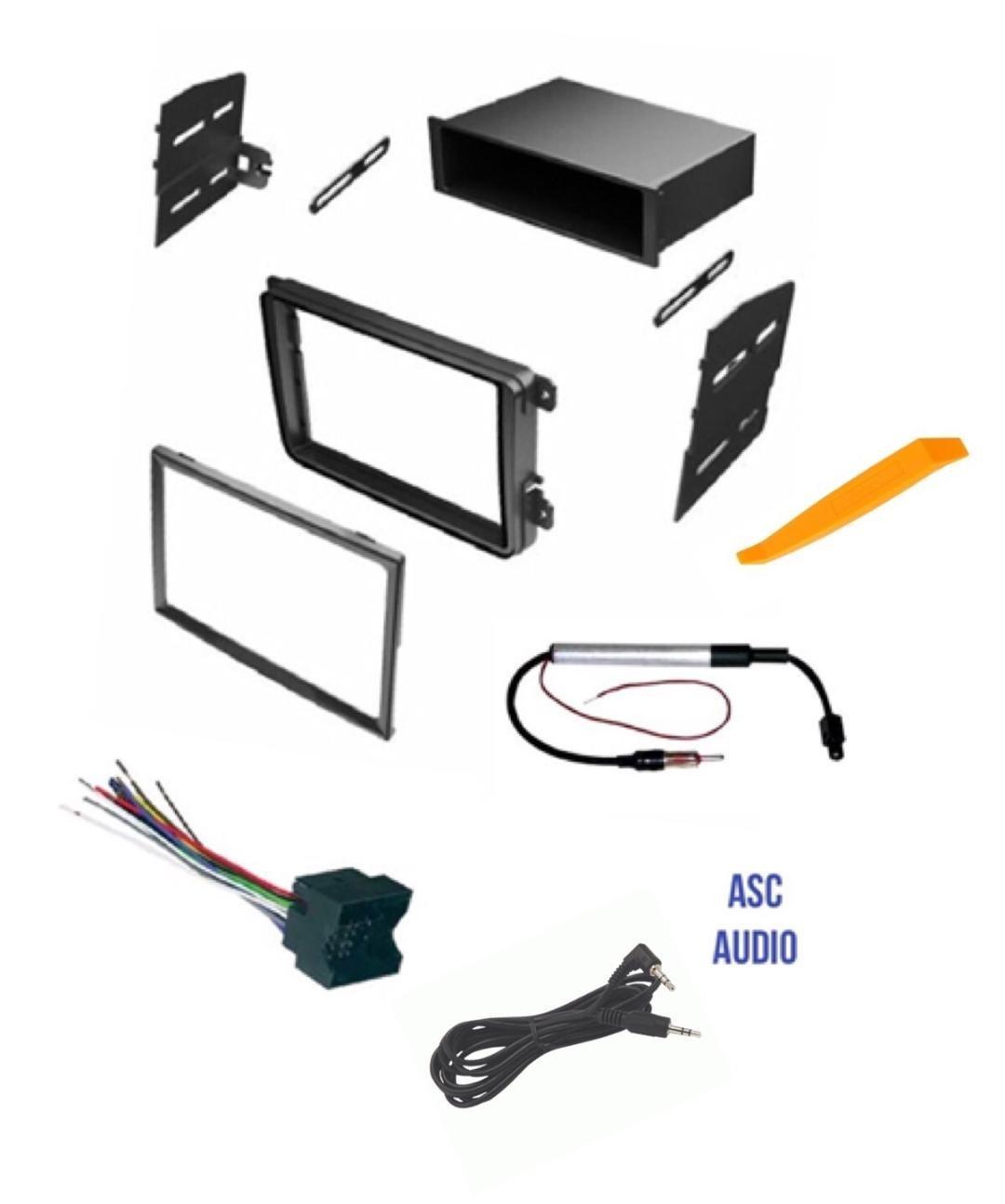 ASC Car Stereo Radio Dash Kit, Wire Harness, and Antenna Adapter for VW Volkswagen: 2012-2015 Beetle, 09-14 CC, 07-14 Eos, 10-14 Golf, 06-14 GTI, 06-15 Jetta, 06-14 Passat, 06-09 Rabbit, 09-14 Tiguan