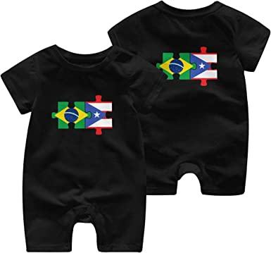 Puerto Rico Flag Baby Boy Long Sleeve Romper Jumpsuit Baby Clothes