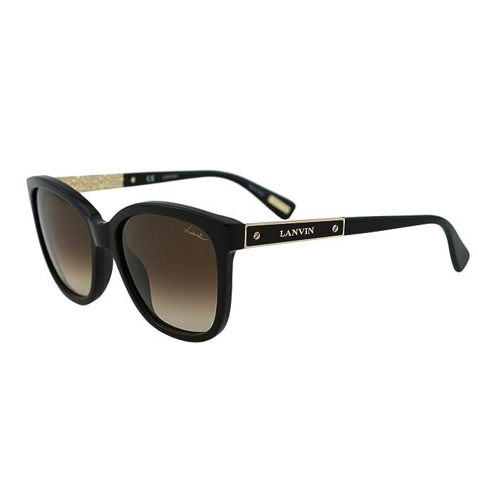 121c26ee06ba Lanvin Paris SLN 640 Black & Gold Bolt Details Square Men Women Wayfarer  Sunglasses: Lanvin: Amazon.ca: Clothing & Accessories