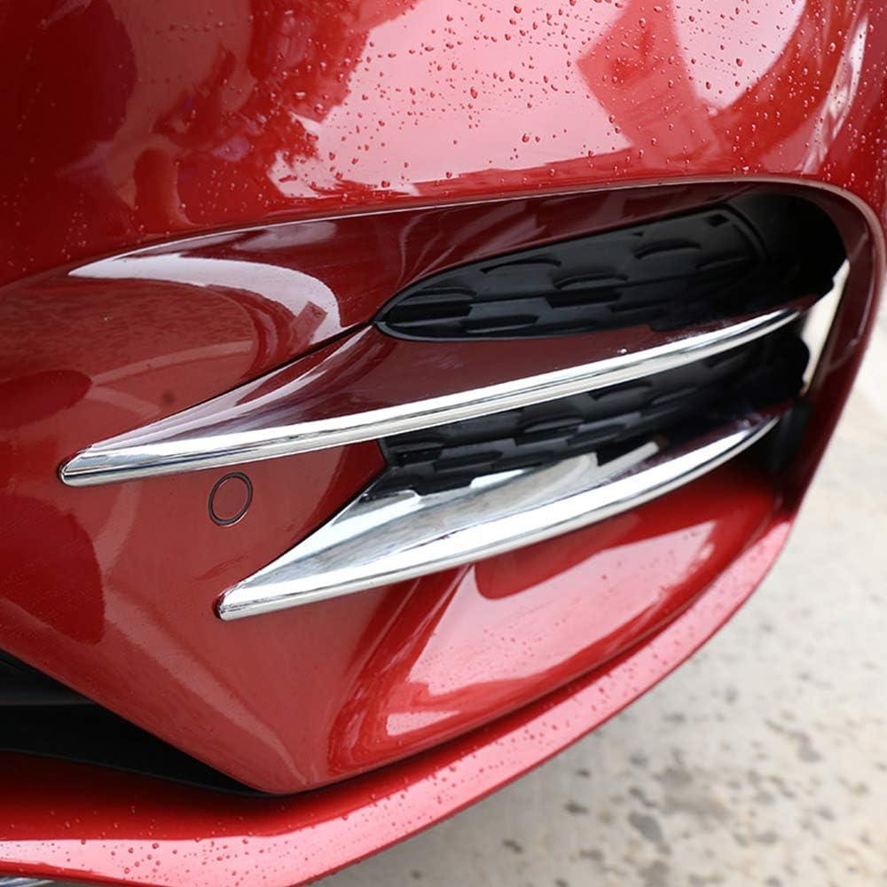 DIYUCAR 4 x ABS Chrome Car Front Lamp Decoration StripTrim For Benz A Class A180 A200 W177 2019 Accessories