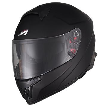 Astone Helmets Casco Moto Integral Fibra gt1000fm, color negro brillante, talla M
