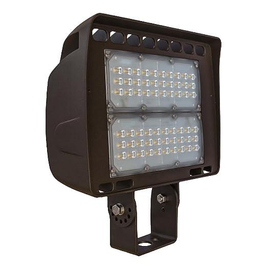 Morris 71144A LED ECO-Flood Light with Trunnion 100W 12316 lm 347-480V 5000K Bronze