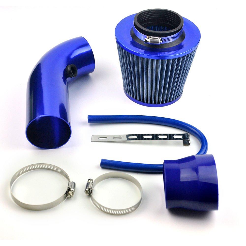 DELIPOP Universal Car Automobile Racing Air Intake Filter Alumimum Pipe Power Flow Kit Blue