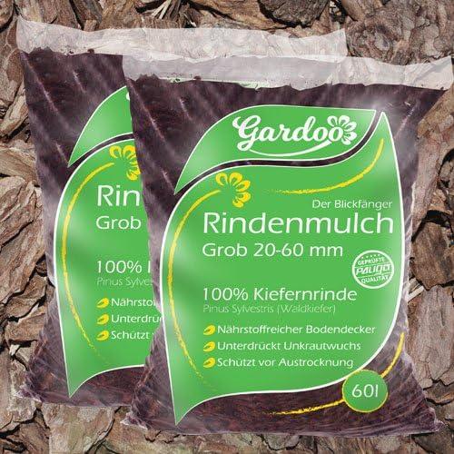 Corteza molida PALIGO mantillo jardín madera decoración corteza natural bosque pino grueso 20-60 mm 70L X 12 sacos (840L/palé): Amazon.es: Jardín