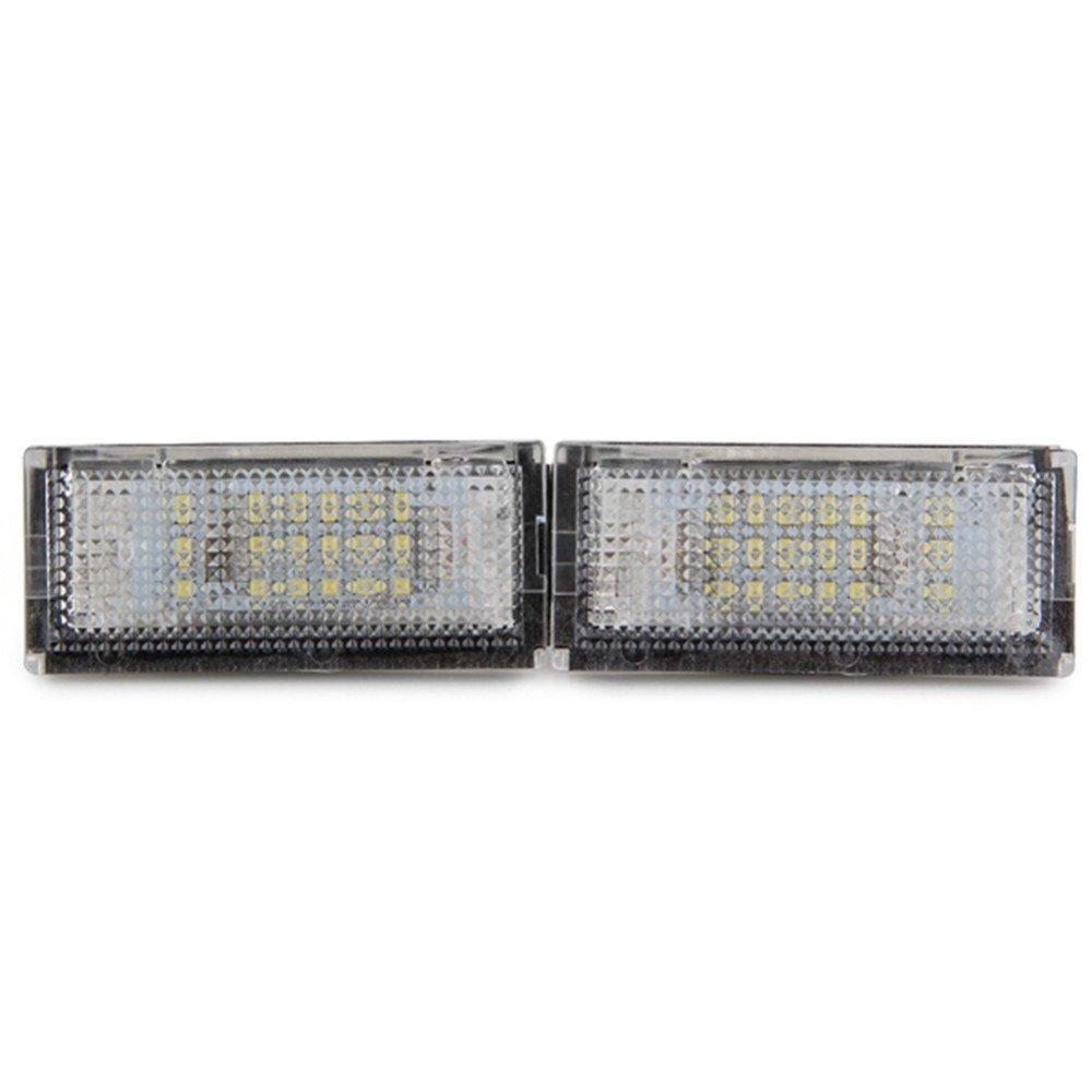 1/paire de feux de plaque dimmatriculation Qook 18 ampoules LED blanches pour BMW KaTur