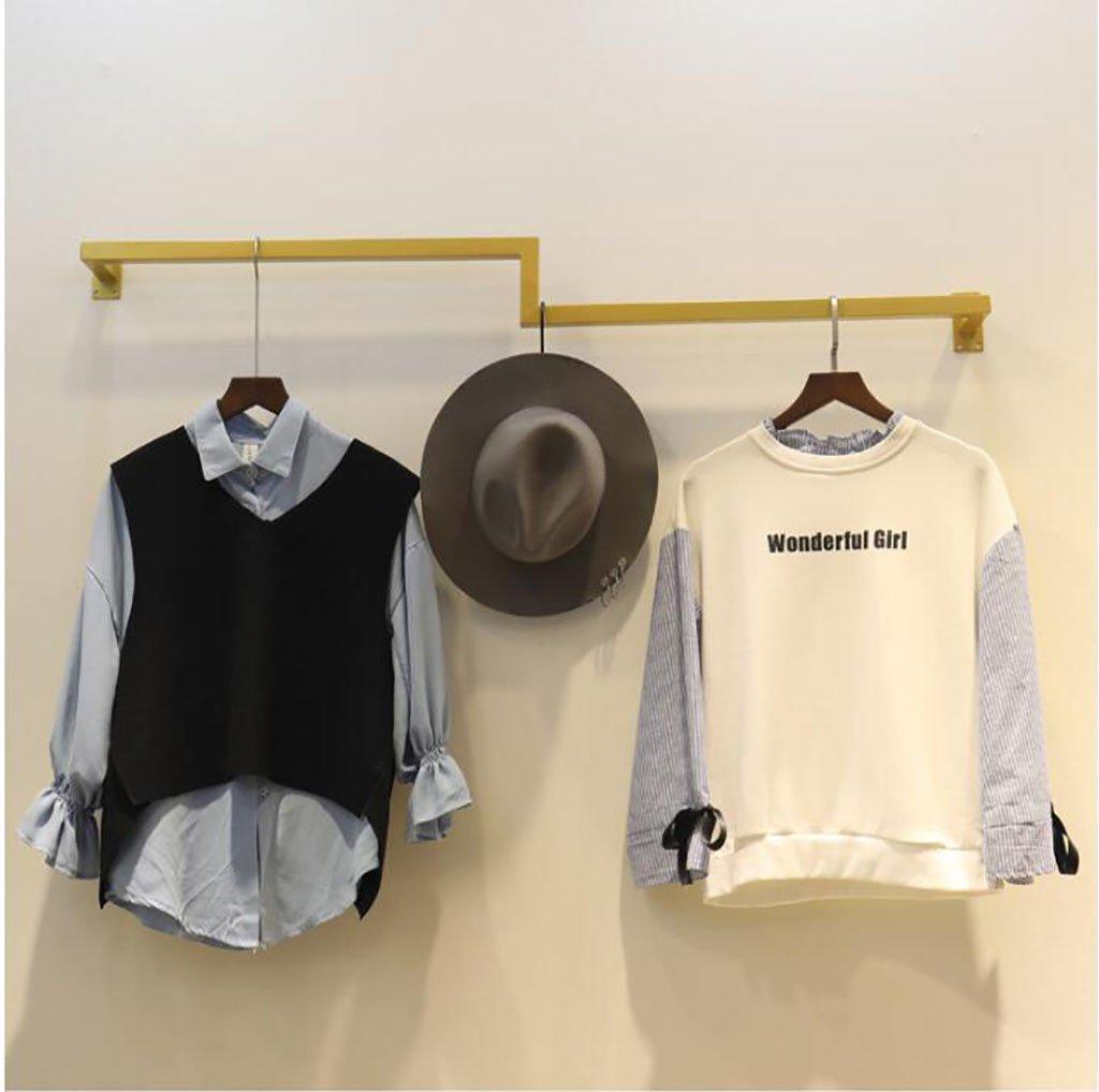 コートラック, 衣類ディスプレイラック、壁掛け衣類ラック、鉄製衣類ラック、レトロ服店ハンガー、衣類棚 (Size : 120cm) B07SLWKZY9  120cm