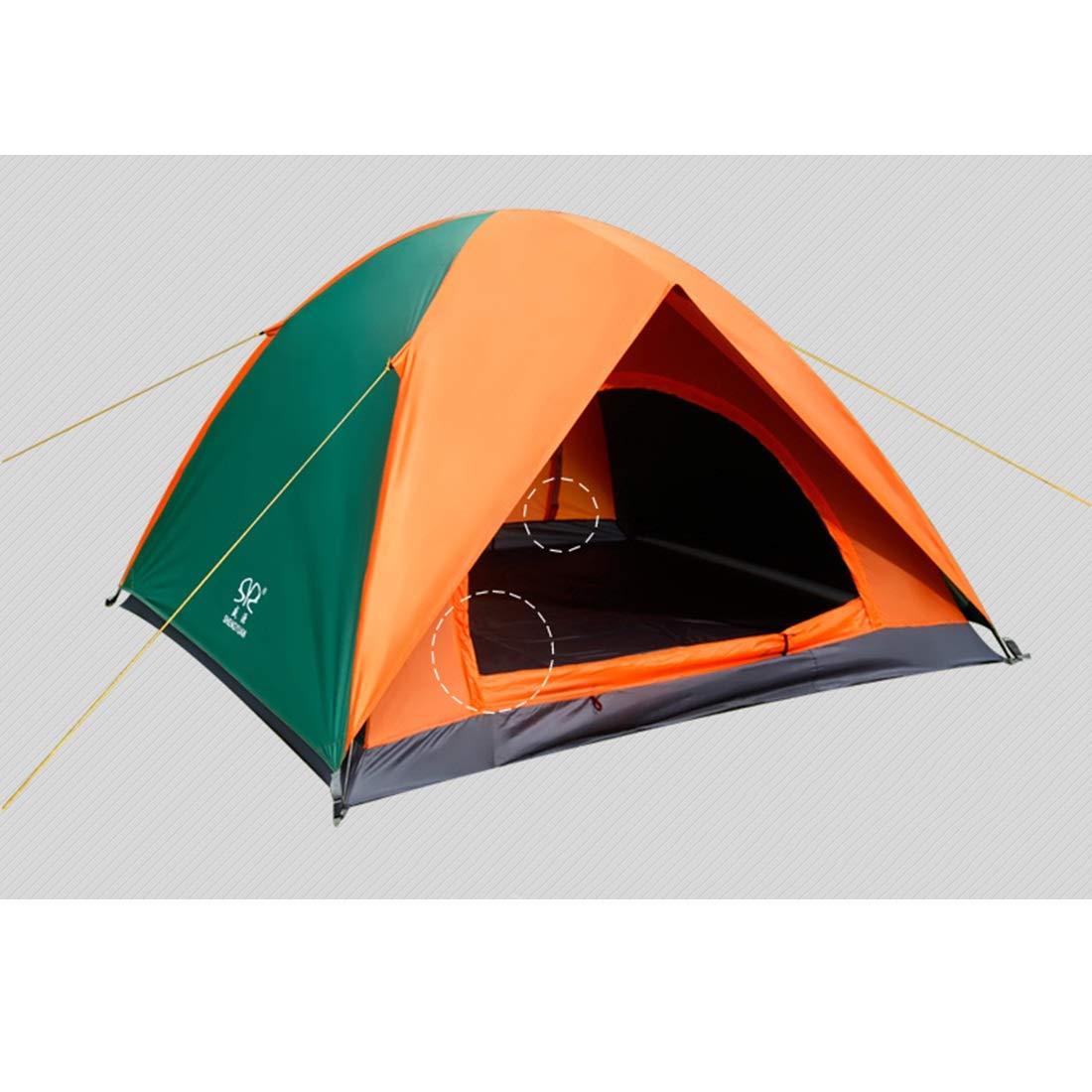 Xasclnis 3 und 4 Zelt, Personen Zelt, 4 Outdoor-Zelt für Wilde Camping (Farbe   Orange Grün) 777609
