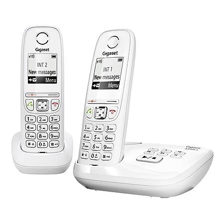 Gigaset AS405 Trio - Juego de teléfonos fijos DECT/GAP (3 terminales), color negro (importado): Amazon.es: Electrónica