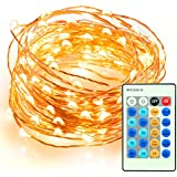 33ft 100 LED String Lights Dimmable with Remote Control, TaoTronics Waterproof Decorative Lights for Bedroom,...