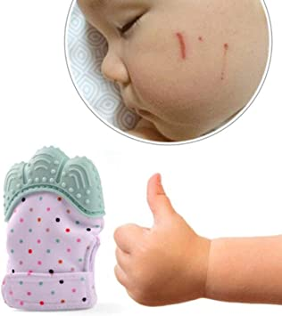 1 Pcs Food Grade Silicone Baby Teether Toys Teething Mitten Molar Gloves SL