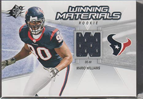 Amazon.com: 2006 Spx Mario Williams Texans Rookie Jersey Football ...
