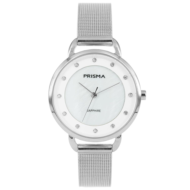 Prisma Damen Armbanduhr Pure Rhombic - Edelstahl silber mit Analog Quarzwerk - 5 ATM und Saphirglas P.1939