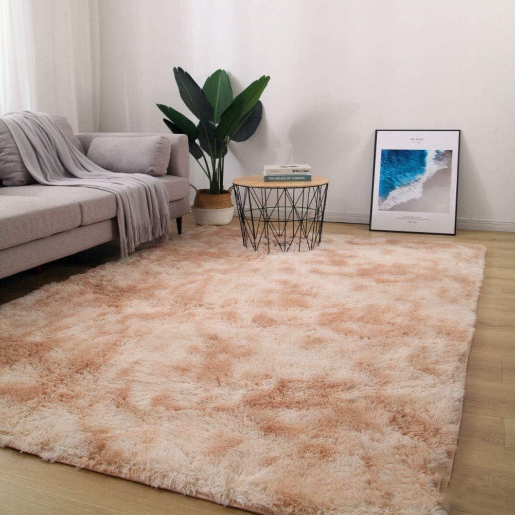 TriGold Soft Fluffy Area Rugs, Shaggy Not-Slip Modern Floor Carpets Luxury Rectangle Home Decor Indoor Carpet for Living Room Bedroom-Khaki 100x200cm(39x79inch)