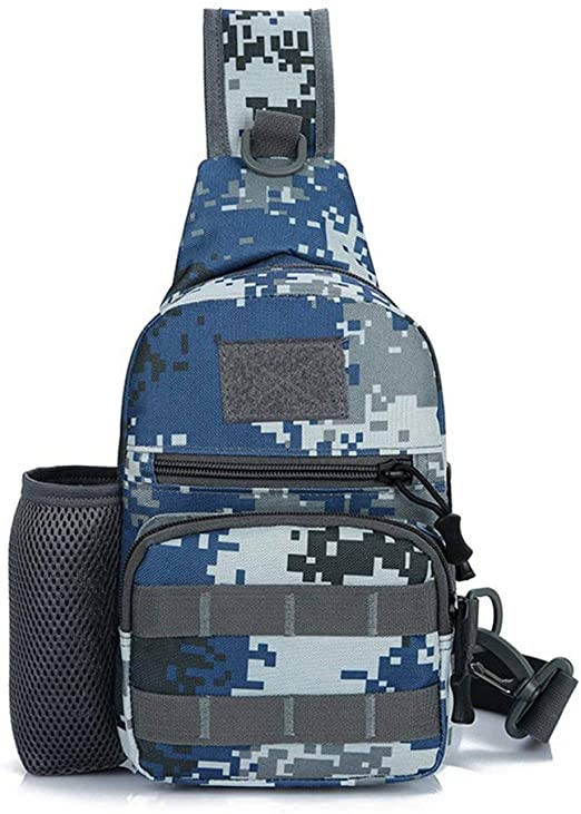 Queenaal Warrior Camouflage Chest Bag Pack Hombres Crossbody Shoulder Outdoor Travel Bag (Air Force Camouflage): Amazon.es: Hogar