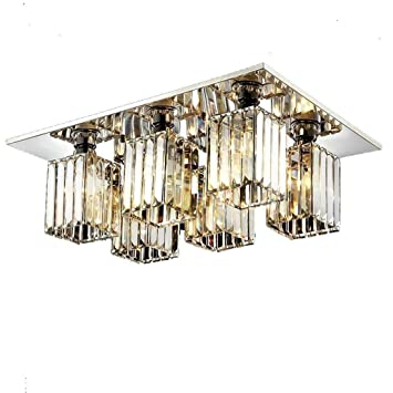 Z-G-Y Vintage Cristal Plafonnier Lampe Moderne Cristal Shade Lustre ...