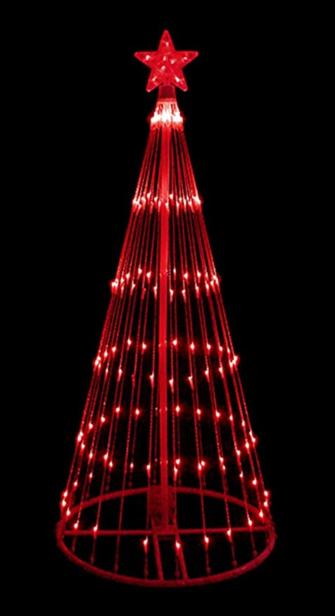 lb international 6 red led light show cone christmas tree lighted yard art decoration