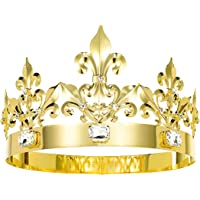 JEHEHUBO King Crown Birthday King Crowns Gold Crown Men Costume Cosplay Prom King Crown Pageant Homecoming King Crown…