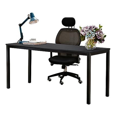 NeedHome Computer Desk 160 x 60x 75 cm PC Escritorio Escritorio de ...