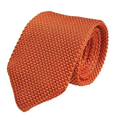 (Men's Skinny Knit Tie Vintage Solid Color Casual Formal Designer Necktie 2.75