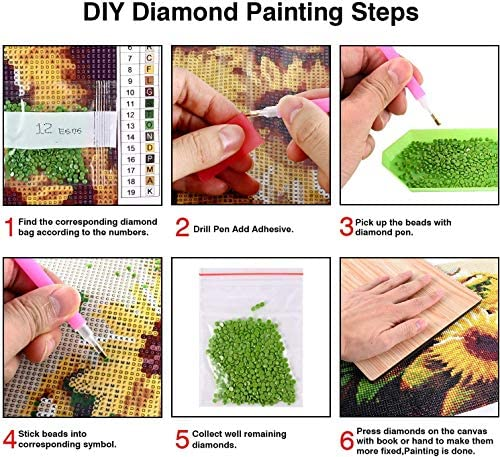 Diamond Painting Kits for Adults Kids New York City DIY 5D Round Full Drill Diamond Art Painting through Number Kits for Home Wall Decor 12x16inch