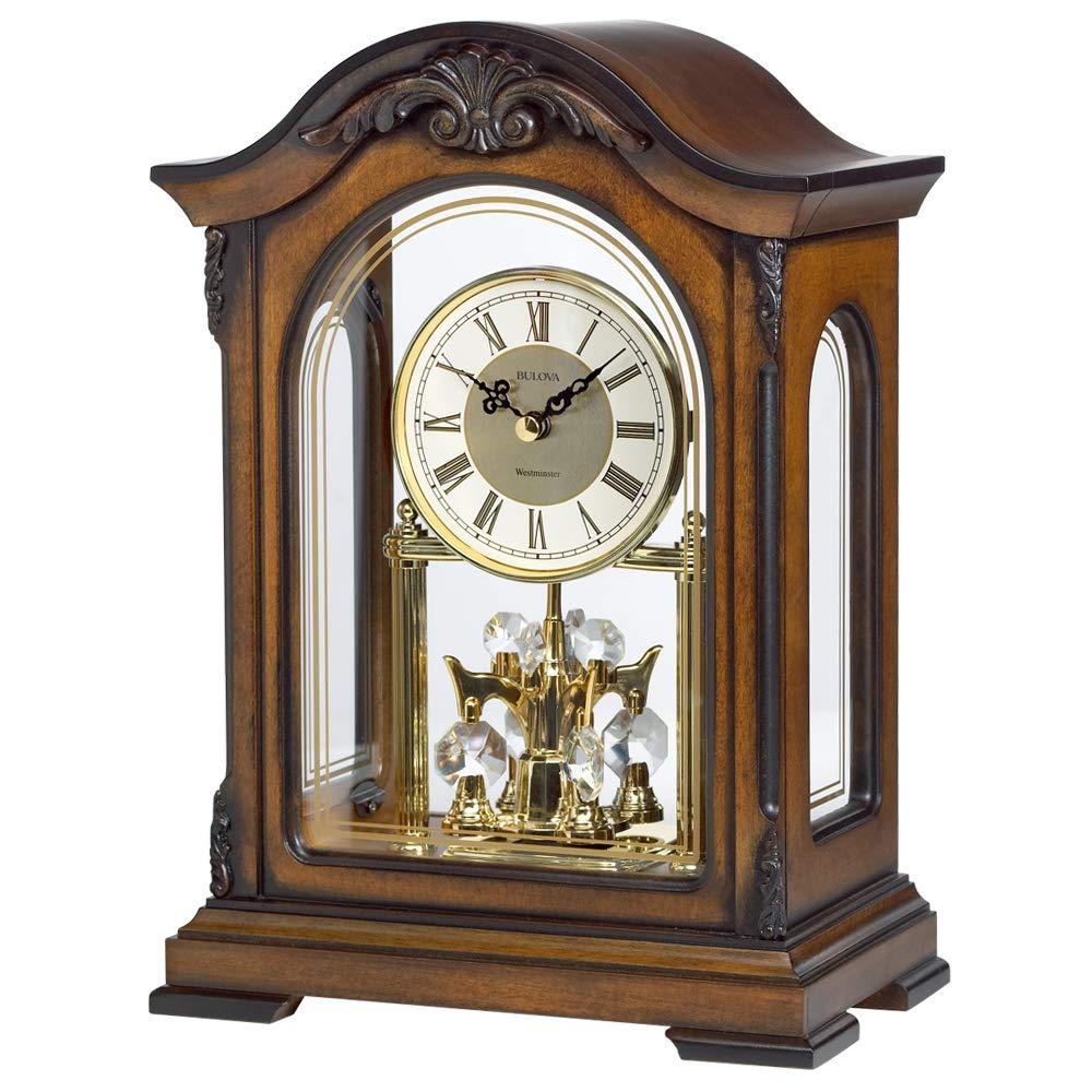 Bulova B1845 Durant Chiming Clock, Walnut by Bulova