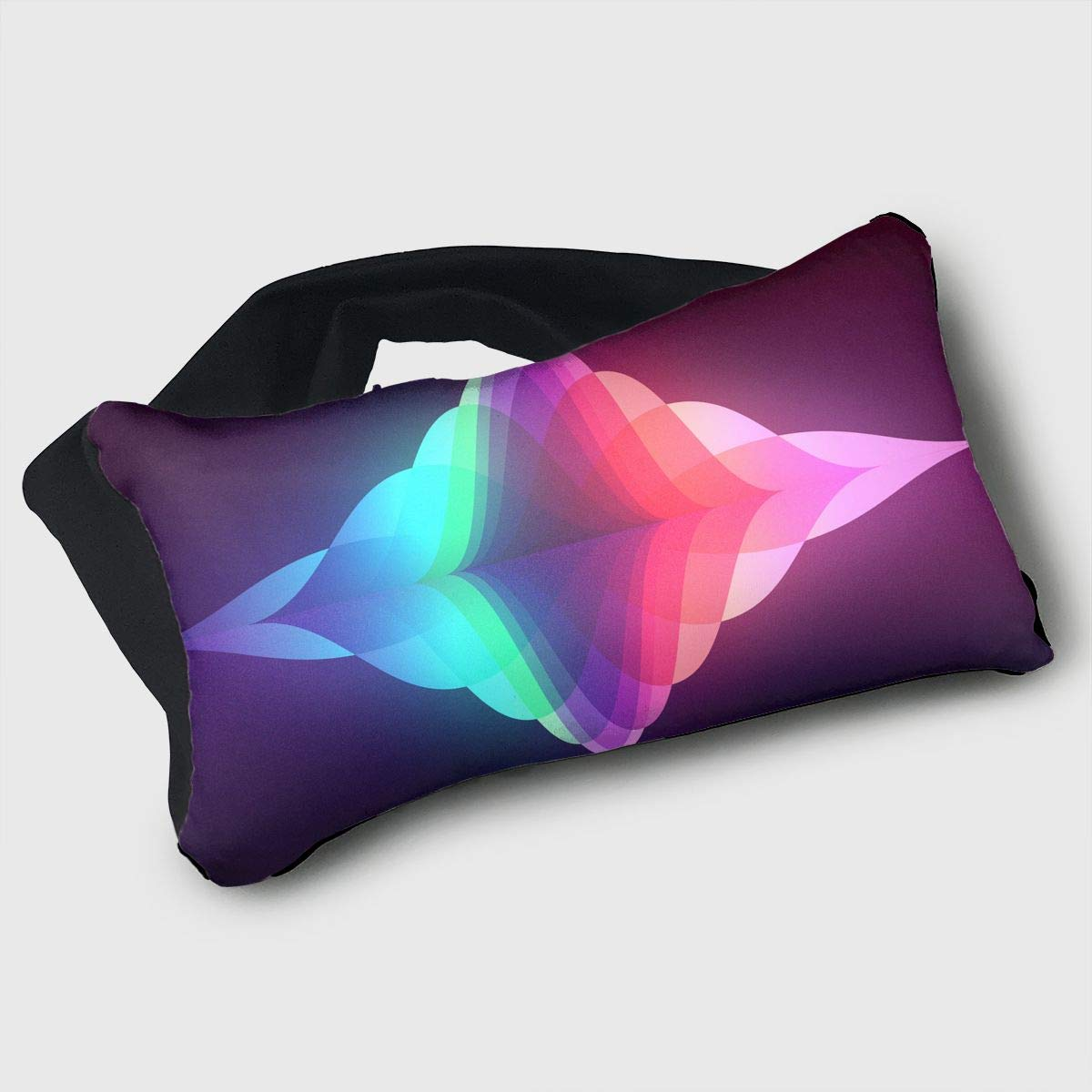 Voyage Travel Pillow Eye Mask 2 in 1 Portable Neck Support Scarf Music Sound Ergonomic Naps Rest Pillows Sleeper Versatile for Airplanes Car Train Bus Home Office