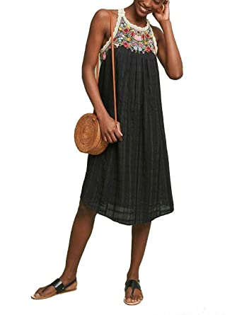 82fb4a30d507 Anthropologie Mosley Embroidered Dress by Akemi+Kin Sz M - NWT at Amazon Women's  Clothing store: