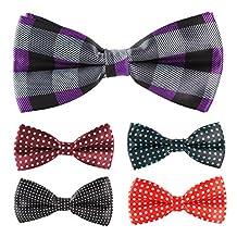 Multicolor Men Boy Pet Cat Dog Tuxedo Adjustable Neck Bowtie Bow Tie Collar 5pcs Mixed Lot Set #10
