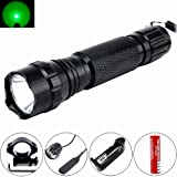Comunite 501B XM-L T6 1000 Lumens Bright LED Flashlight Torch Tactical FlashLight Lamp+ Gun Mount+ Remote Pressure Switch+ 1 x 18650 Rechargeable Battery+ Battery Charger