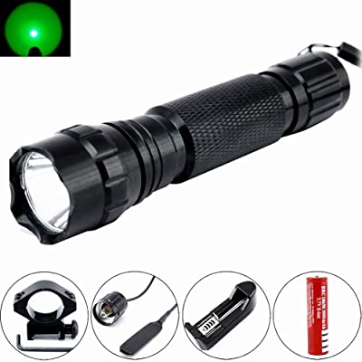 Comunite Portable Cree 1000LM LED Flashlight Hunting Fishing Light Torch Set