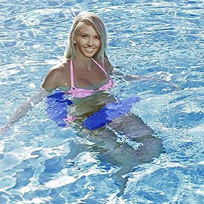 California Sun Deluxe Unsinkable Ultra Soft Foam Cushion Pool Whale Tail Chair (Polar White): Toys & Games