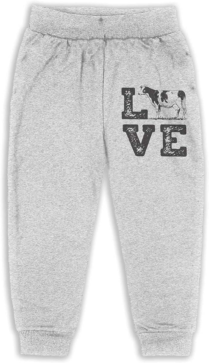 Kids /& Toddler Pants Soft Cozy Baby Sweatpants Love Cows Fleece Pants Training Pants