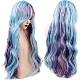 Mermaid Wig Cosplay Costume Light Green Purple Pink Green Copper Red Mix